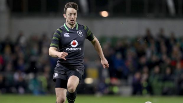 Darren Sweetnam made his Ireland debut off the bench. Photograph: Dan Sheridan/Inpho
