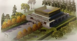 Proposed design for UCD building that will  house the university's Confucius Institute, which teaches Chinese culture and language courses