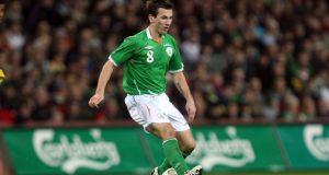 In action for the Republic of Ireland in 2008; Liam Miller. Photograph: Donall Farmer/Inpho