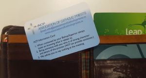 The information card issued to members of the Association of Catholic Priests on how to deal with abuse allegations.