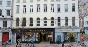 Waterstones, 68-69 Patrick Street, Cork, has an annual rent of €770,000, giving an initial yield of 11.36 per cent