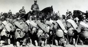 Tsar Nicholas II blessing his troops. File photograph: Getty Images