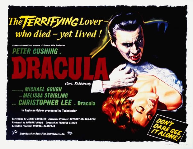 Dracula: Christopher Lee declined to give male victims the trademark love bite. Photograph: MPIA/Getty