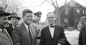 John F Kennedy and Arthur Schlesinger jnr. Photograph: Getty