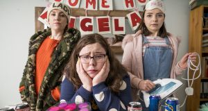 Clare Monnelly, as an aggressively direct friend Mary, Alison Spittle as Angela and  Genevieve Hulme-Beaman as the nicely awkward Brid in Nowhere Fast