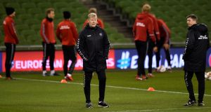 Åge Hareide has insisted Denmark will take the game to Ireland on Tuesday  night. Photograph: Clodagh Kilcoyne/Reuters