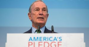 Billionaire and philanthropist Michael Bloomberg has since 2010 spent $164 million on a campaign to end coal-burning in the US. Photograph: Lukas Schulze/Getty Images