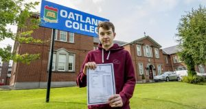 Ryan Bell, a student of Oatlands College in Stillorgan, Dublin, got his results rechecked this year and obtained a higher result. Photograph: Brenda Fitzsimons