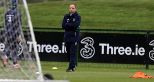 Martin O'Neill has suggested Ireland will need two goals in order to qualify for the World Cup. Photograph: Donall Farmer/PA