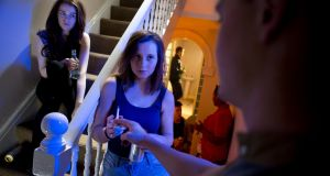 What will she say? A teenager being offered pot and alcohol at a house party