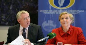 Noel  Waters pictured with former minister for justice Frances Fitzgerald. Photograph: Eric Luke / The Irish Times