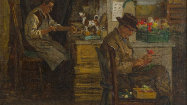 "Lot 99, ""Toymakers"" by Aloysius O'Kelly: estimated at €6,000-€8,000."