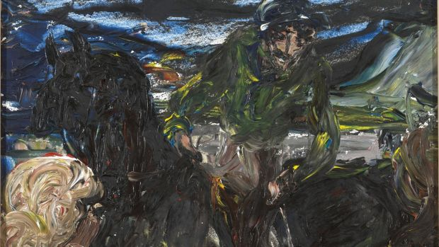 "Lot 41, ""Muldoon & Rattlesnake"" by Jack B Yeats: has an estimate of €80,000-€120,000."