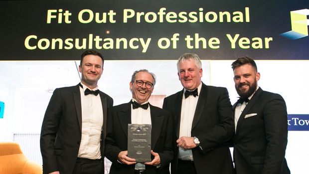 Alan Coakley, MD, Ardmac presents the Fit Out Professional Consultancy of the Year award to the Turner & Townsend team