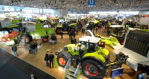 Agritechnica trade fair in Germany: Irish exhibitors this year include Combilift, Malone Farm Machinery, Athlone Extrusions, Mastek, and Burnside Autocy.  Photograph:  Getty Images