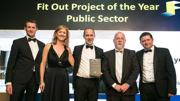 Robbie Hamilton, Managing Director, CRM Interior Fit-Outs presents the Fit Out Project of the Year – 