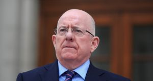 "Minister for Justice  Charlie Flanagan announced  up to 530 family members of refugees from ""UNHCR-recognised conflict zones"" would be accepted into Ireland. Photograph: Gareth Chaney Collins"