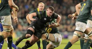 Could we have turned Tadhg Furlong into an inside centre, capable of replicating the Bundee Aki tackle, if coached to play there from age 11? Photograph: Morgan Treacy/Inpho