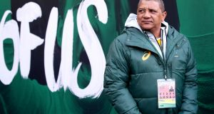 South African head coach Allister Coetzee cut the image of someone on work experience. Maybe he knows he's leaving too. Photograph: Bryan Keane/Inpho