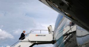 US president Donald Trump boards Air Force One to return home from the  Philippines: takes a transactional, deal-making approach to policy, whatever the moral or ethical costs.  Photograph: Jonathan Ernst