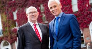 John Murphy with Tim Kinsella, managing director of MKC Communications. Mr Murphy is former secretary general of the Department of Jobs, Enterprise and Innovation