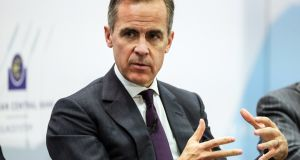 Governor of the Bank of England Mark Carney. Photograph: Epa/Armando Babani