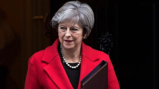 British prime minister Theresa May. Photograph: Will Oliver/EPA