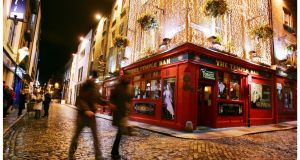 """We are going to be faced with the night-time economy again, as we were in 2008-2009."" Above, Temple Bar. Photograph: Bryan O'Brien"
