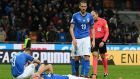 Italian players dejected at the end of their 2018 World Cup Qualifier Play-Off. Photo: Claudio Villa/Getty Images