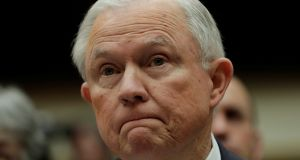 US attorney general Jeff Sessions pauses as he testifies before a House Judiciary Committee. Photograph: Yuri Gripas/Reuters