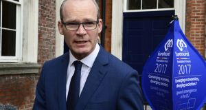 Simon Coveney: Minister told his EU colleagues that  he was confident Ireland's participation would be approved. Photograph: Cyril Byrne
