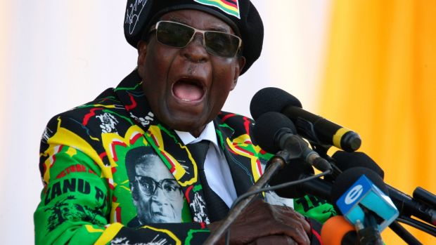 President Robert Mugabe: confined to his home after a night of unrest in Zimbabwe. File photograph: AFP/Getty Images