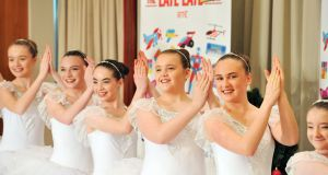 Members of the Joan Denise Moriarty School of Dance in Cork prepare to audition for the Late Late Toy Show in 2017. Photograph: Daragh McSweeney/Provision