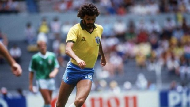Socrates and Brazil thrashed Ireland 7-0 in 1982. Photograph: Billy Stickland/Inpho