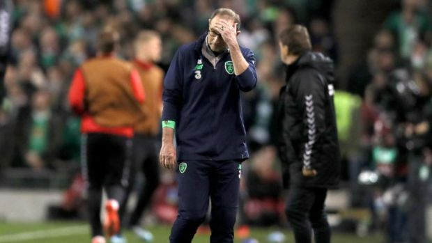 Martin O'Neill saw his side miss out on World Cup qualification after losing 5-1 to Belgium. Photograph: Brian Lawless/PA