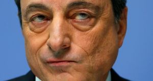 ECB president, Mario Draghi. The ECB is echoing comments from the EU banking watchdog last month, which warned firms could not set up mere 'shells' with no real substance to retain access to the single market after Brexit. Photograph: Reuters