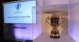 The 2023 Rugby World Cup has been awarded to France, ahead of Ireland and South Africa. Photograph: Billy Stickland/Inpho