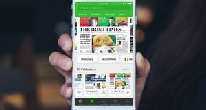 Publications available on the PressReader platform include The Irish Times