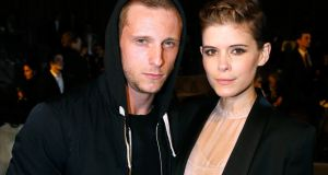 Jamie Bell with his second wife, actor Kate Mara. Photograph: Bertrand Rindoff Petroff/Getty Images