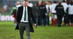 Northern Ireland manager Michael O'Neill, has been approached by Scotland. Photograph:  Alex Livesey/Getty Images