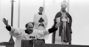 Duped: Fr Michael Cleary with John Paul II during the pope's visit to Galway in 1979. Photograph: The Irish Times