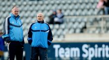 Pat Gilroy and Mickey Whelan pictured in 2011 during their time as manager and coach of the Dublin football team. Photograph: James Crombie/Inpho