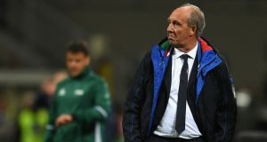 Italy have sacked coach  Gian Piero Ventura after the failure to qualify for next year's World Cup in Russia. Photograph:    Claudio Villa/Getty Images