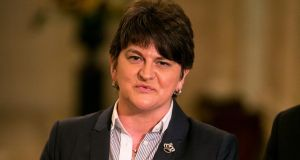 DUP leader Arlene Foster: condemned the British media's coverage of the DUP. Photograph: Liam McBurney/PA