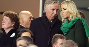 FAI chief executive John Delaney  at the Ireland-Denmark game. The association would have been guaranteed about €6.8 million in prize money for participating at the tournament. Photograph: Morgan Treacy/Inpho