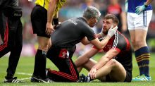 Mayo's Aidan O'Shea gets treatment during the  All-Ireland semi-final replay against Kerry in Croke Park. Photograph: Ryan Byrne/Inpho