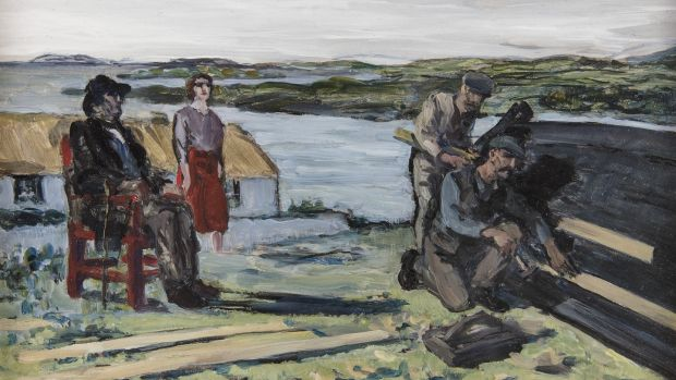 The Boat Builder by Jack B Yeats, is a 1923 oil-on-board