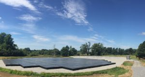 Panoramic view of the I-Lofar low-frequency radio telescope