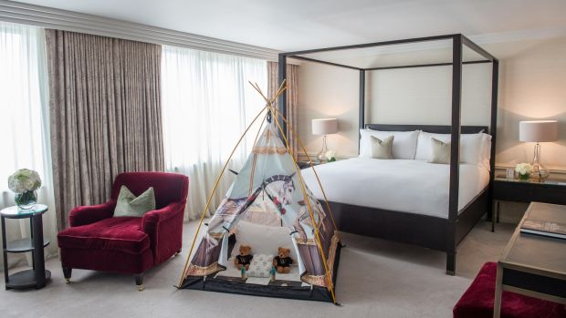 Little ones can feast on cookies and hot chocolate before cosying up in a fairytale teepee in the Westbury
