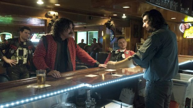 "Seth MacFarlane and Adam Driver in ""Logan Lucky"": the film looks as if it was designed as a primer on the key Trump demographics. Photograph: Bleecker Street/AP"